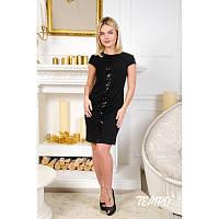 Платье Ивон пайетка черный