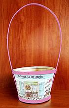 Кошик для квітів Прованс 33х14,5 см