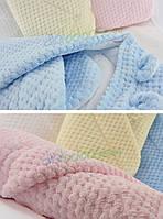 """Конверт - одеяло для новорожденного с капюшоном SOFT  jacguard ( голубой ) """"Duetbaby"""""""