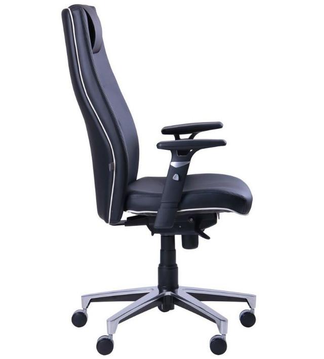 Кресло Элеганс HB с кантом Synchro (черный) фото 3 / НВ Неаполь-20 (черный), кант Неаполь-50 (белый)