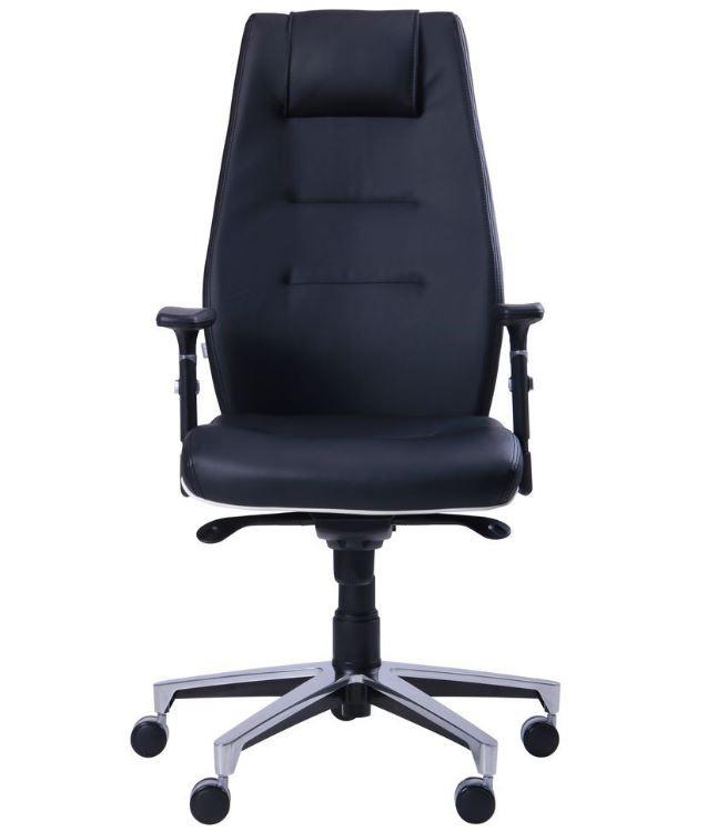 Кресло Элеганс HB с кантом Synchro (черный) фото 2 / НВ Неаполь-20 (черный), кант Неаполь-50 (белый)