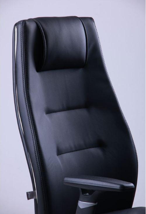 Кресло Элеганс HB с кантом Synchro (черный) фото 5 / НВ Неаполь-20 (черный), кант Неаполь-50 (белый)