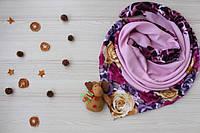 """Турецкий шерстяной платок """"Амалия"""" (розовый)"""
