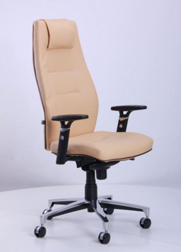Кресло Элеганс НВ Неаполь-01 (бежевый), кант Неаполь-32 (темно-коричневый)