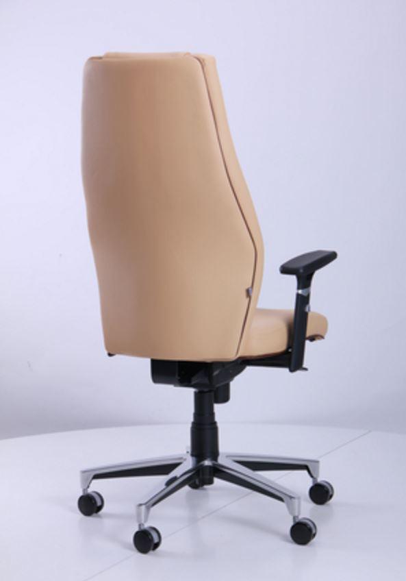 Кресло Элеганс НВ Неаполь-01 (бежевый), кант Неаполь-32 (темно-коричневый) (фото 4)