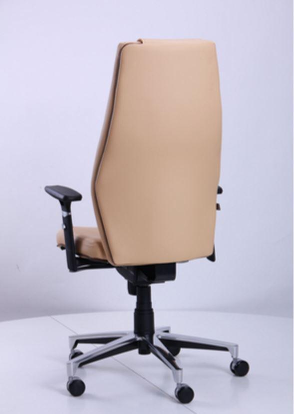 Кресло Элеганс НВ Неаполь-01 (бежевый), кант Неаполь-32 (темно-коричневый) (фото 5)
