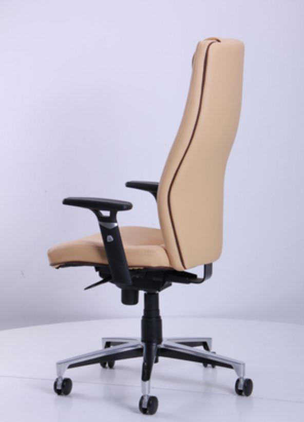 Кресло Элеганс НВ Неаполь-01 (бежевый), кант Неаполь-32 (темно-коричневый) (фото 6)