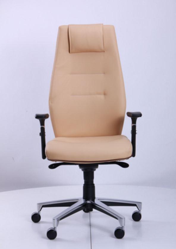 Кресло Элеганс НВ Неаполь-01 (бежевый), кант Неаполь-32 (темно-коричневый) (фото 2)