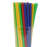 Трубочки для фреша цветные 100шт/уп
