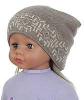 Демисезонная вязаная шапочка для девочки подростка ACHTI Польша 82d04d95d9c19