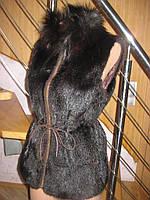 Роскошная норковая жилетка,44-46
