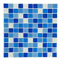 Стеклянная мозаика для бассейнов 2,5х2,5 Багама темная Cristall