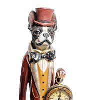 """Декоративная статуэтка с часами """"Собака Сэр Уильям"""" NS-151"""