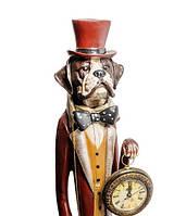 """Декоративная статуэтка с часами """"Собака Сэр Джон"""" NS-152"""