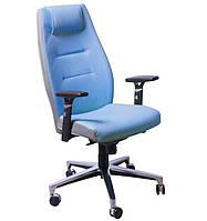 Кресло Элеганс HB Неаполь-6 (голубой), боковины задник Неаполь-23 (серый)