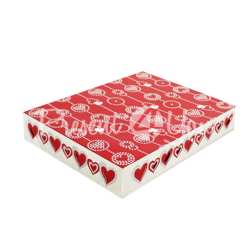 Подарочная коробка «Сердечки», 28х21,6х4 см