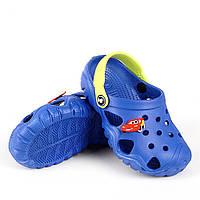 Детская пляжная обувь из эва синего цвета