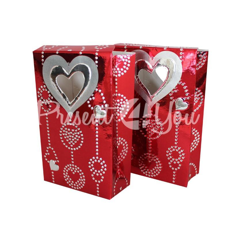Набор подарочных коробок «Сердечки», 2 шт., 8,8х3,9х14 см