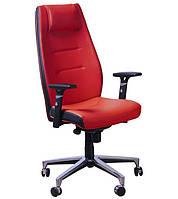 Кресло Элеганс HB Неаполь-36 (красный), боковины задник Неаполь-20 (черный)