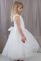 Нарядное пышное фатиновое светлое платье для девочек, р. 98-104