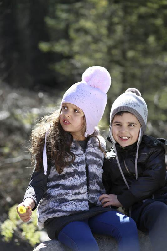 Дитяча тепла в'язана шапочка для дівчинки ACHTI Польща
