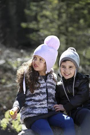 Дитяча тепла в'язана шапочка для дівчинки ACHTI Польща, фото 2