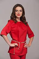 Женская блуза красная