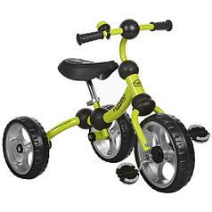 Детский трехколесный велосипед М 3192 зеленый, колеса EVA, поворотная рама