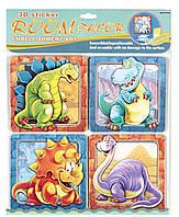 Декорации для детской комнаты - набор наклеек Динозавры, Mota