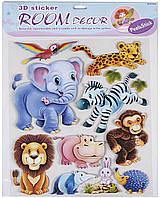 Декорации для детской комнаты Дикие животные - набор наклеек, Mota