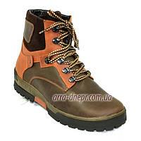 Ботинки мужские на шнуровке, натуральная кожа