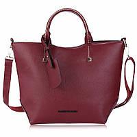 Женская сумка вместительная бордовая, фото 1