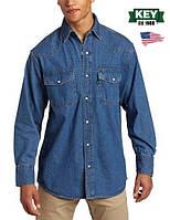 Мужская джинсовая рубашка McKEY®(США) (L) Denim Western Shirt/100% хлопок/Оригинал