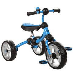 Детский трехколесный велосипед М 3192 голубой, колеса EVA, поворотная рама