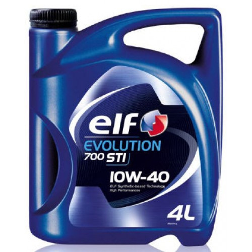 Полусинтетическое моторное масло Elf Evolution 700 STI (Эльф эволюшин) 10w-40 4 л