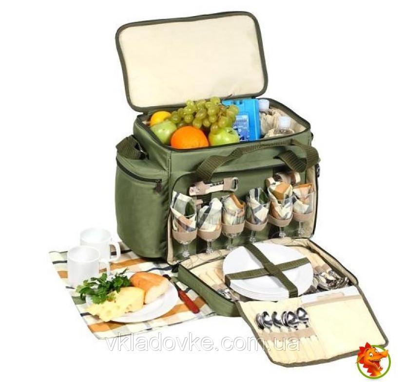 Набор для пикника Ranger с посудой и сумкой изотермической на 6 человек