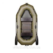 Bark Барк b-240c надувная лодка из пвх двухместная гребная со сланевым ковриком