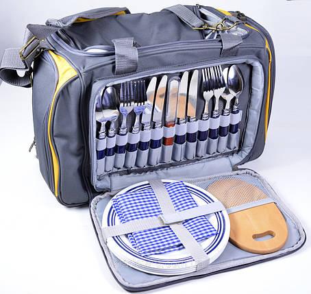 Сумка изотермическая с набором посуды на 4 - х человек, фото 2