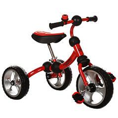 Детский трехколесный велосипед М 3192 красный, колеса EVA, поворотная рама