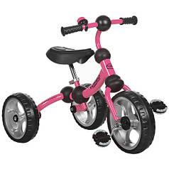Детский трехколесный велосипед М 3192 розовый, колеса EVA, поворотная рама