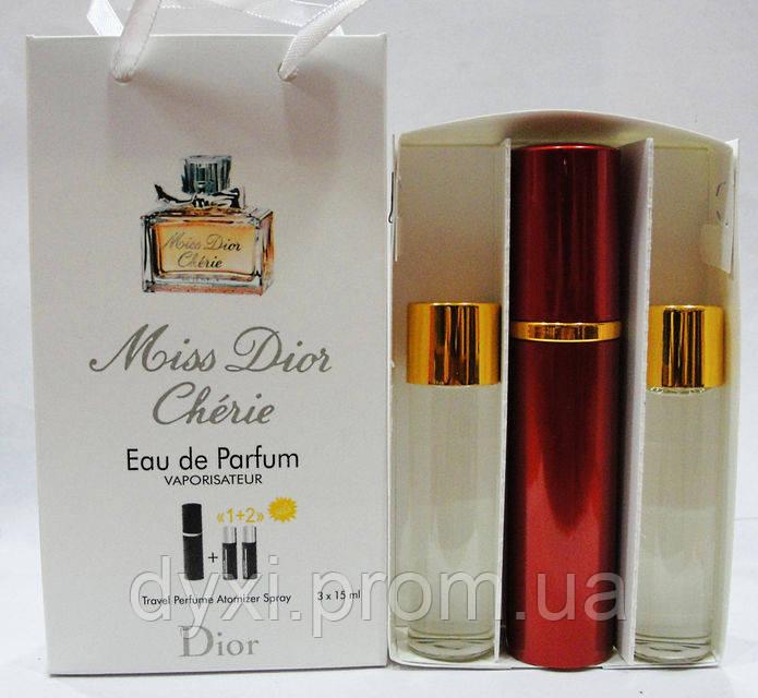 Наборы духов по 15мл 3шт Christian Dior Miss Dior Cherie - Парфюмерия в  Киеве 5ae1e17248ba7