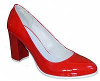 Лаковые туфли лодочка на каблуке 8 см