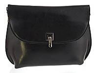 Стильная небольшая женская кожаная сумка высокого качества с масляной кожи art. 882 черный, фото 1
