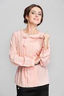 Блуза с бантом розовая