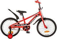 """Велосипед 18"""" Formula WILD усилен. рама-9"""" St красно-черный (м) с крылом Pl 2017"""