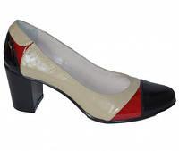 Кожаные женские классические туфли