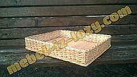 Плетеные корзины, лотки для хранения 50*50 с высотой 5 см