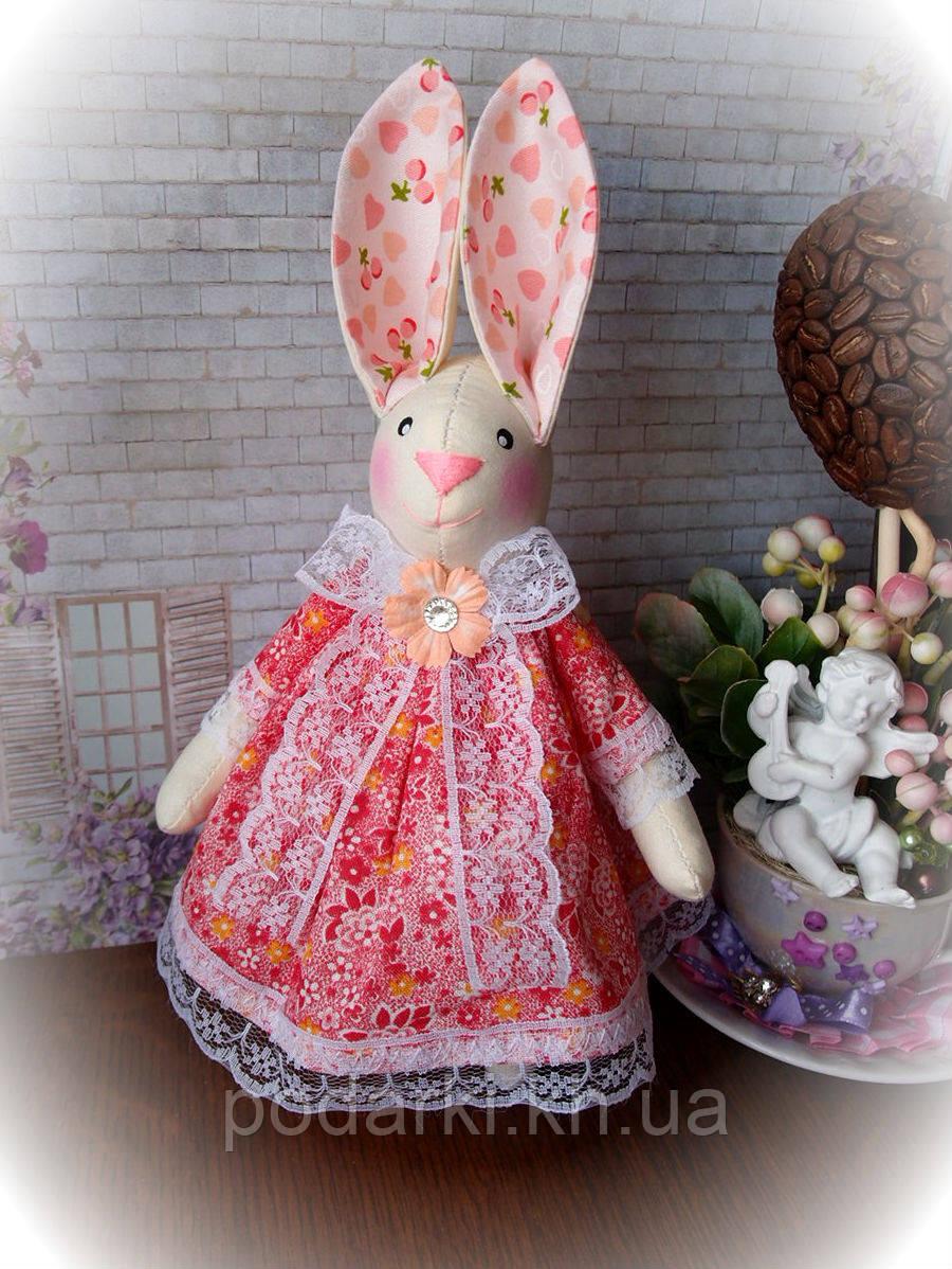 """Интерьерная текстильная игрушка """"Заяц Тильда-5"""""""