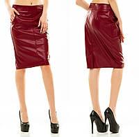 Женская юбка из экокожи, размер 42-44, 44-46, 46-48, 48-50. В наличии 5 цветов
