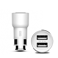 Xiaomi Roidmi Bluetooth Car Transmitter with Charger 2USB White (BFQ01RM)
